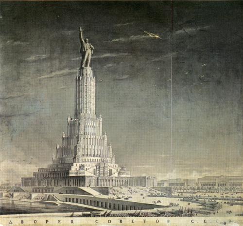 boris-michailovic-jofan-con-la-partecipazione-di-vladimir-alekseevic-scuko-e-vladimir-georgievic-gelfrejch-palazzo-dei-soviet-mosca-1933