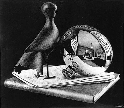 Escher Still Life with Spherical Mirror 1934