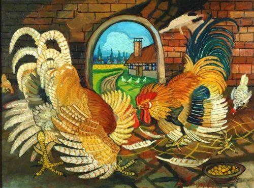 Ligabue 1945 Lotta di galli