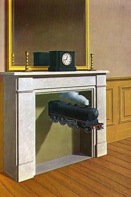 Magritte time Transfixed 1938